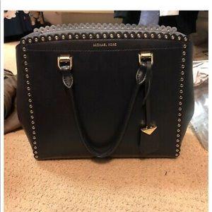 Womens Michael Kors studded two-tone blue purse
